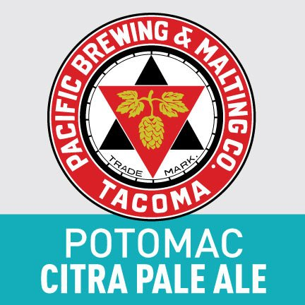 Pacific Brewing & Malting Co. Potomac Citra Pale Ale