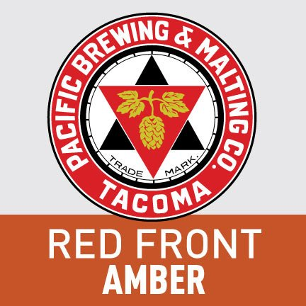 Pacific Brewing & Malting Co. Red Front Amber