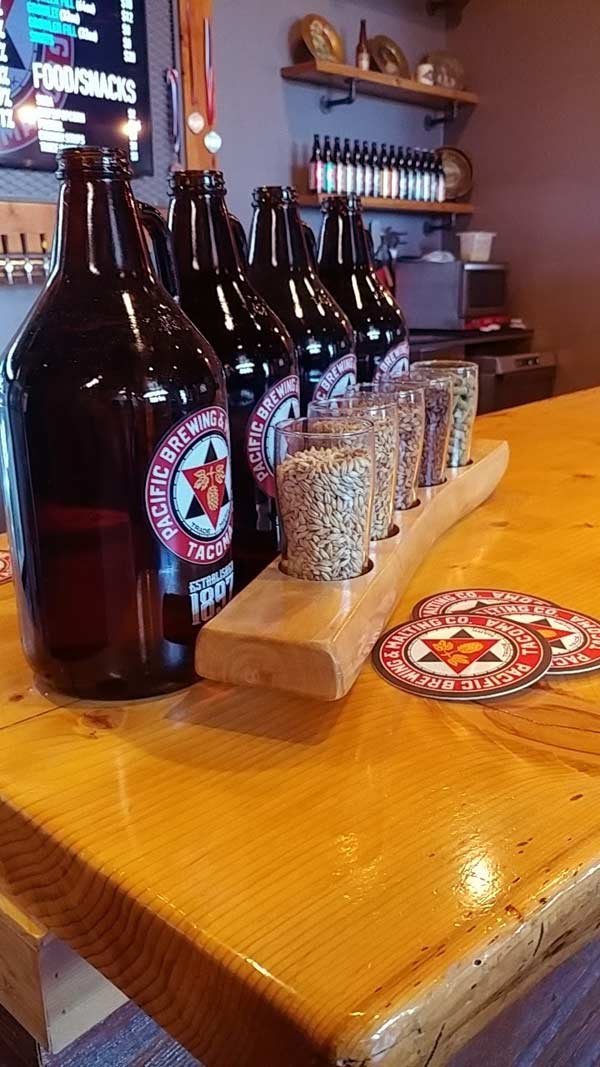 Pacific Brewing & Malting Growlers